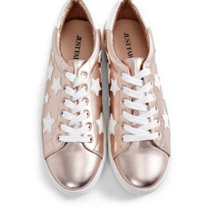 New Justfab Crystabel Rose Gold Sneakers